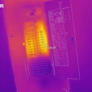 Thermal imaging of electric panel
