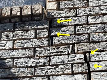 Large separating cracks observed in brick veneer Houston home