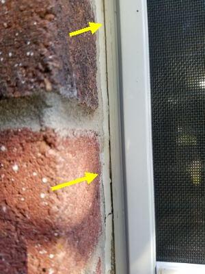 Separating window caulking at a home
